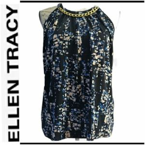 NWT Ellen Tracy printed Blouse